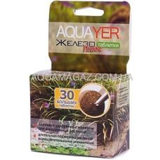 Удобрение для аквариумных растений Aquayer Таблетки Железо Плюс